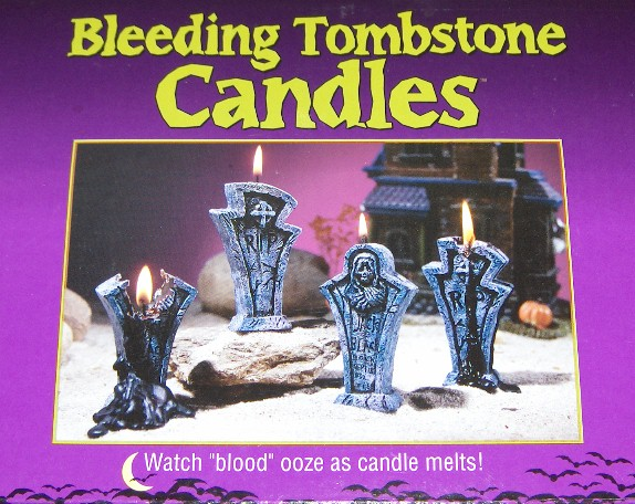 Bleeding Tombstone Candles