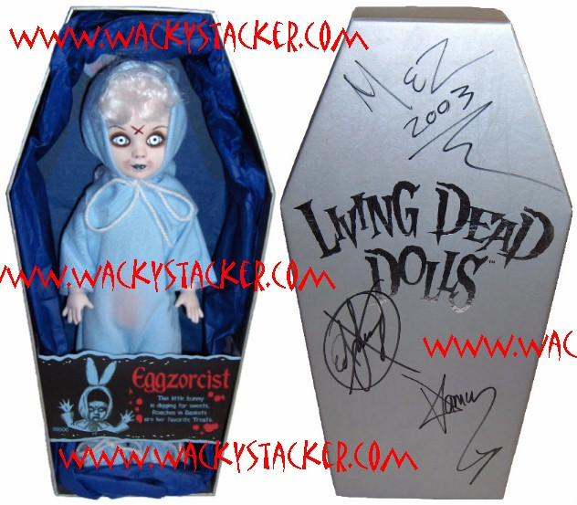 Living Dead Dolls Autographed Comic-Con Blue Eggzorcist Exclusive w/ Mez Signature