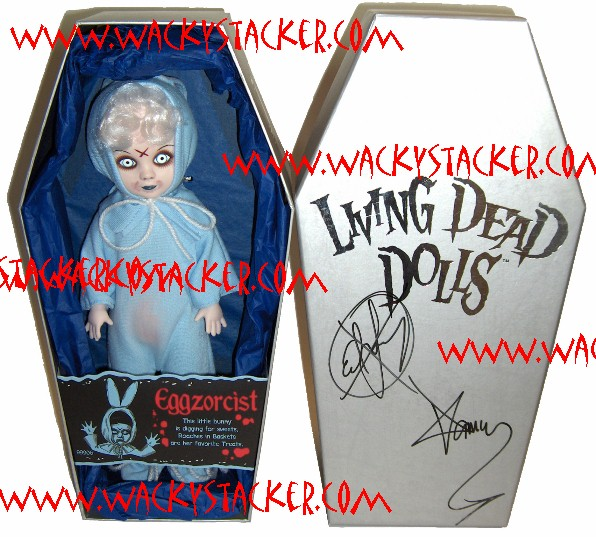 Living Dead Dolls Comic-Con Blue Eggzorcist Exclusive Autographed
