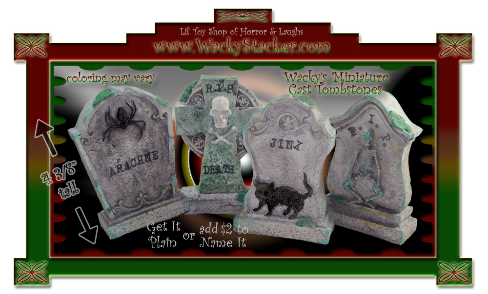 Toy Goblins Cast Tombstone